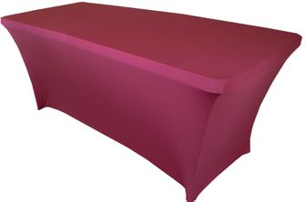 6 Ft Rectangular Spandex Table Cover - Sangria 64166 (1pc/pk)