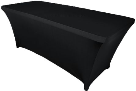 6 Ft (200 GSM) Rectangular Spandex Table Covers (40 Colors)
