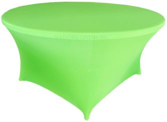 6 Ft Round Spandex Table Cover - Apple Green 64437 (1pc/pk)