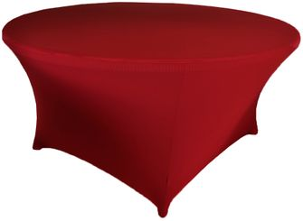 6 Ft Round Spandex Table Cover - Apple Red 64408 (1pc/pk)
