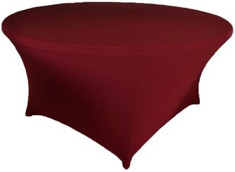 6 Ft Round Spandex Table Cover - Burgundy 64410 (1pc/pk)