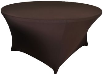 6 Ft Round Spandex Table Cover - Chocolate 64491 (1pc/pk)