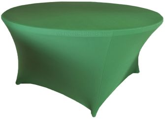 6 Ft Round Spandex Table Cover - Clover 64448 (1pc/pk)