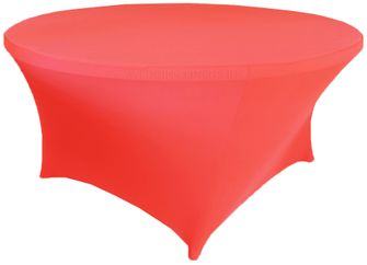 6 Ft Round Spandex Table Cover - Coral 64406 (1pc/pk)
