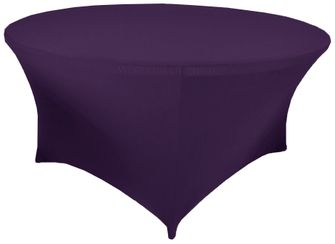 6 Ft Round Spandex Table Cover - Eggplant 64445 (1pc/pk)