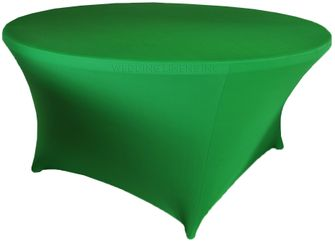 6 Ft Round Spandex Table Cover - Emerald Green 64438 (1pc/pk)