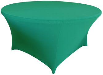 6 Ft Round Spandex Table Cover - Jade 64426 (1pc/pk)