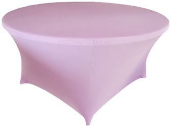 6 Ft Round Spandex Table Cover - Lavender 64411 (1pc/pk)