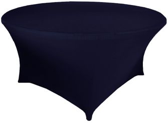 6 Ft Round Spandex Table Cover - Navy Blue 64423(1pc/pk)