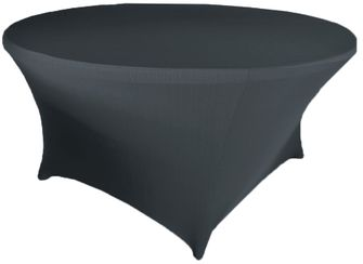 6 Ft Round Spandex Table Cover - Pewter 64460 (1pc/pk)