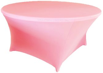 6 Ft Round Spandex Table Cover - Pink 64405 (1pc/pk)