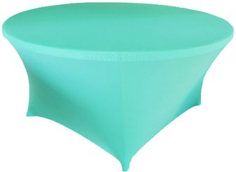 6 Ft Round Spandex Table Cover - Pool Blue 64478 (1pc/pk)