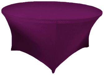 6 Ft Round Spandex Table Cover - Purple 64443 (1pc/pk)