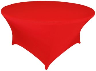 6 Ft Round Spandex Table Cover - Red 64412 (1pc/pk)