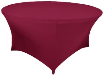 6 Ft Round Spandex Table Cover - Sangria 64466 (1pc/pk)