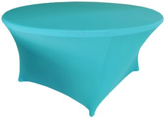 6 Ft Round Spandex Table Cover - Turquoise 64485 (1pc/pk)