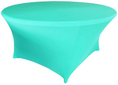 """6 Ft / 72"""" (200 GSM) Round Spandex Table Covers (39 Colors)"""