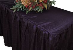 6' Rectangular Ruffled Fitted Crushed Taffeta Tablecloth With Skirt - Eggplant 63445 (1pc/pk)