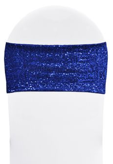 "7""x 13"" Sequin Spandex Chair Bands - Royal Blue 00122 (10pcs/pk)"