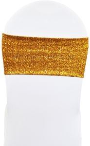 """7""""x13"""" Sequin Spandex Chair Bands (17 Colors)"""