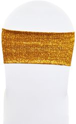 "7""x13"" Sequin Spandex Chair Bands (17 Colors)"