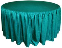 72� Round Ruffled Fitted Crush Taffeta Tablecloth With Skirt - Oasis 63758 (1pc/pk)