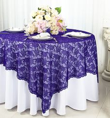 "72"" Square Lace Table Overlays - Regency 90763 (1pc/pk)"