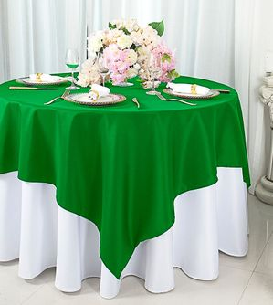72 x 72 (200 GSM) Square Polyester Tablecloths / Table Overlay Toppers (25 Colors)