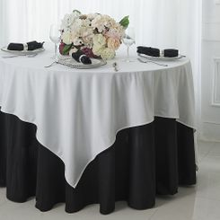 "72"" x 72"" Square Scuba (Wrinkle - Free) Tablecloths / Table Overlay Toppers (7 Color)"