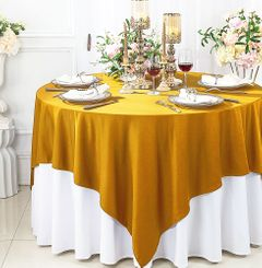 "72"" x 72"" Square Scuba (Wrinkle - Free) Tablecloths / Table Overlay Toppers (13 Colors)"