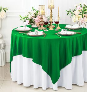 """72"""" x 72"""" Square Scuba (Wrinkle - Free) Tablecloths / Table Overlay Toppers (15 Colors)"""