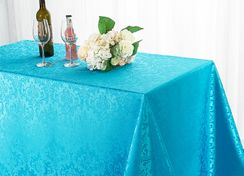 "72""x120"" Rectangular Damask Jacquard Polyester Tablecloths (14 colors)"