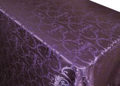 """72""""x120"""" Rectangle Versailles Chopin Damask Jacquard Polyester Tablecloths (14 colors)"""