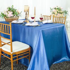 72x120 Rectangle Satin Tablecloth - Periwinkle / Cornflower 55225(1pc/pk)