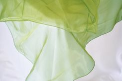 """72"""" Square Crystal Organza Table Overlay - Moss Green (1pc/pk)"""