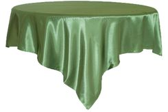"72"" Square Satin Table Overlays - Clover 51148 (1pc/pk)"