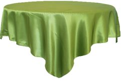 "72"" Square Satin Table Overlays - Moss Green 51117 (1pc/pk)"