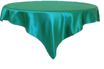 """72"""" Square Satin Table Overlays - Oasis 51158 (1pc/pk)"""