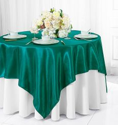 "72"" Square Satin Table Overlays - Oasis 51158 (1pc/pk)"