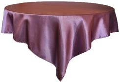 "72"" Square Satin Table Overlays - Wisteria 51173 (1pc/pk)"