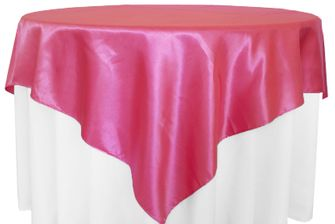 72x72 Square Satin Table Overlays - 56 colors