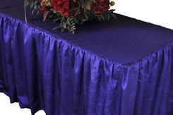 8' Rectangular Ruffled Fitted Crushed Taffeta Tablecloth With Skirt - Regency 63563 (1pc/pk)