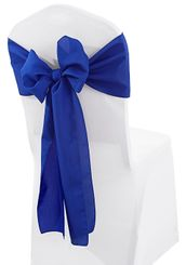 "8"" x 108"" Polyester Chair Sashes - Royal Blue 52622 (10pcs/pk)"