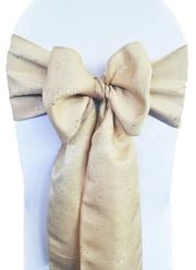 """8""""x108"""" Paillette Poly Flax Chair Sashes - Champagne 10128 (1pc)"""
