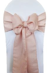 "8""x108"" Paillette Poly Flax Chair Sashes - Blush Pink 10115 (10pcs/pk)"