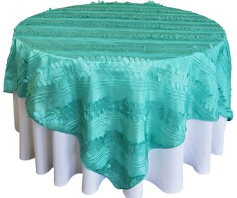 "85"" Square Forest Taffeta Table Overlays (10 Colors)"