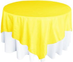 "85"" Square Crushed Taffeta Table Overlays - Canary Yellow 61516 (1pc/pk)"