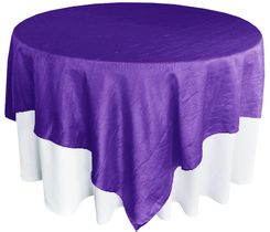 "85"" Square Crushed Taffeta Table Overlays - Regency 61563 (1pc/pk)"