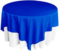 "85"" Square Crushed Taffeta Table Overlays - Royal Blue 61522 (1pc/pk)"