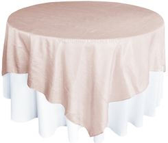 "85"" Square Crushed Taffeta Table Overlays - Blush Pink 61515 (1pc/pk)"